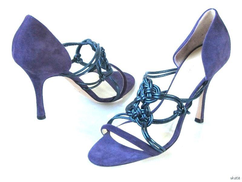 consegna rapida New  670 ALEXANDRA ALEXANDRA ALEXANDRA NEEL viola suede open-toe strappy heels scarpe 40 10 SEXY  prezzi all'ingrosso