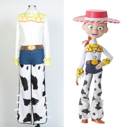 Disney Toy Story Cowgirl Jessie Cosplay Costume Outfit Jeans Uniform Suit Dress