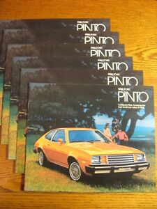 1980-Ford-Pinto-Sales-Brochure-LOT-6-pcs-Pony-Runabout-Wagon-Squire-Rallye