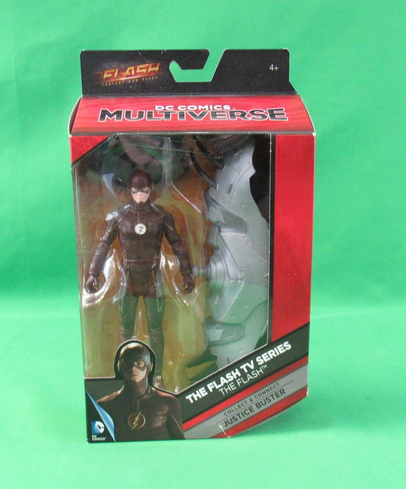 Mattel DC Multiverse Justice autobuster Wave TV Flash cifra bianca Emblem Sealed