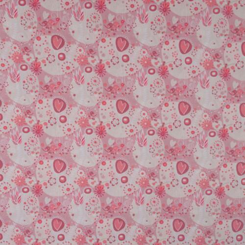 Preis=0,5m Baumwollstoff Herzblüte rosa Kinderstoff Modestoff Damenstoff