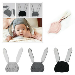 d89c7a82512 1Pcs Baby Rabbit Ears Knitted Hat Infant Toddler Children Winter ...