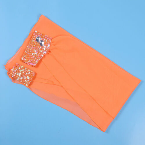 Chiffon Belly Dance Wear Arm Sleeve Wrist Dance Bracelet Band Sequins Adjustable
