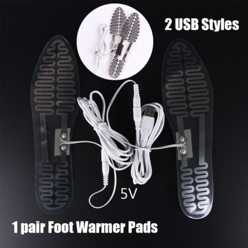 USB Electric Heated Insoles Foot Warmer Ski warming Insole Boots Shoes Pads