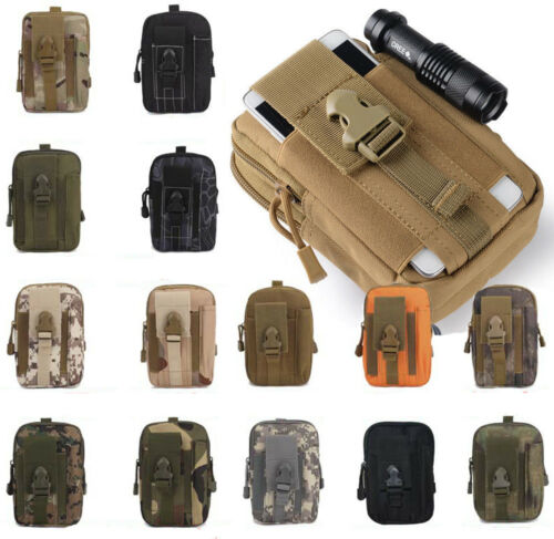 Hot Military Tactical Molle Pouch Belt Waist Pack  Phone Pocket Waterproof Bag