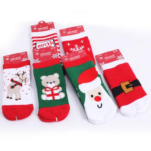 Cute Xmas Boy Girl Winter Sock Festive Toddler Baby Christmas Sock Cotton Sock