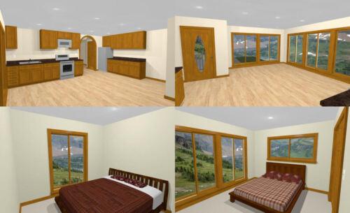 Model 1C 40x42 Apartment with 2-Car 1-RV Garage 1,153 sqft PDF FloorPlan