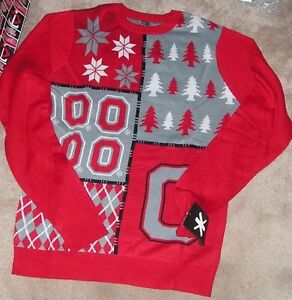 Ohio State Ugly Christmas Sweater.Details About New Ncaa Ohio St State Buckeyes Ugly Holiday Christmas Sweater Men L Large Klew