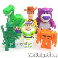NEW Lego Toy Story Woody Buzz Lightyear Dinosaur Rex Green Army Lotso Bear Chunk