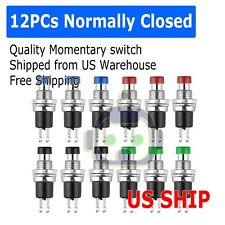 12 Pcs Black Cap Spst Momentary Mini Push Button Switch Normally Close