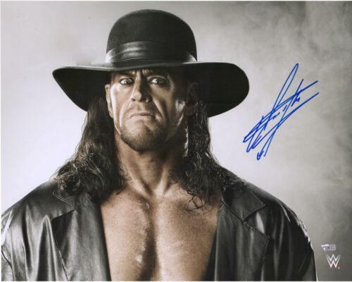 "The Undertaker WWE Autographed 16/"" x 20/"" Gray Background Photograph"