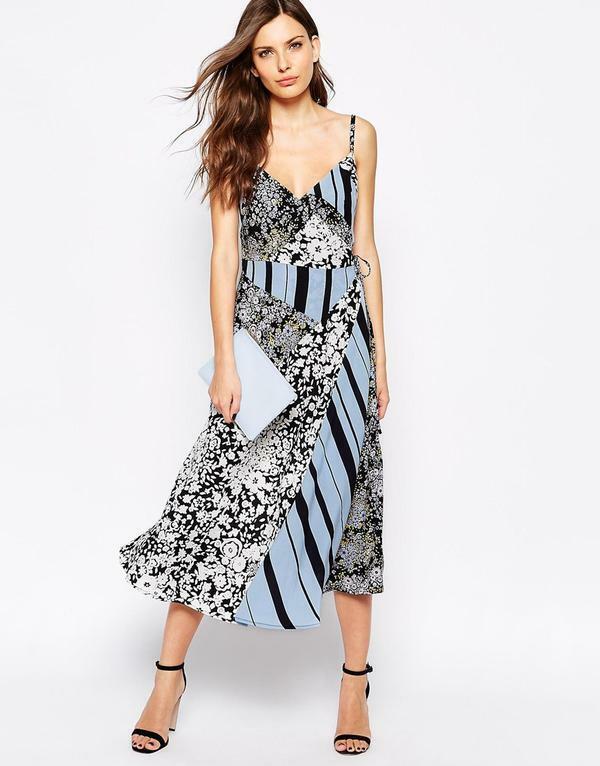 Gorgeous new FRENCH CONNECTION wrap tie FCUK FREIDA bluee summer DRESS uk16 bnwt