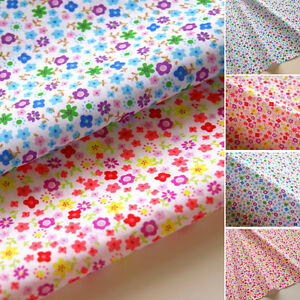 Floral fabric children 39 s dress kids polycotton material for Childrens dress fabric