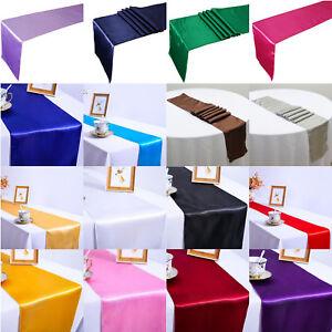 Satin-Table-Runner-Long-Cloth-Chair-Banquet-Party-Wedding-Dinner-Venue-Decor