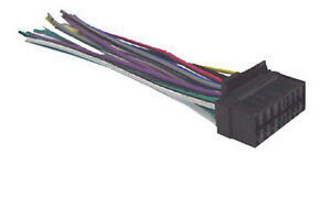 sony wiring harness car stereo 16 pin wire connector ebay rh ebay com