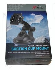Goji ACTION CAMERA SUCTION CUP MOUNT 180degree Rotary Head Compatible with GoPro