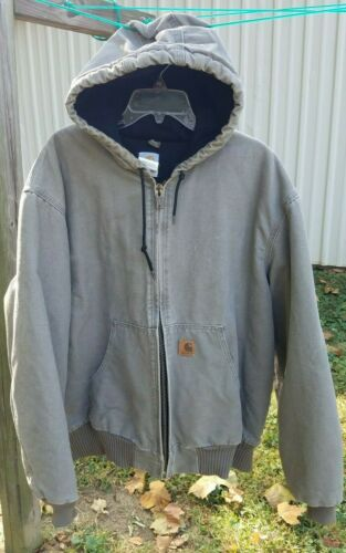 Carhartt XL Men Regular Quilted Lined Hood Taupe T