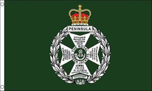 5/' x 3/' Royal Green Jackets Flag British Army Military Light Infantry Regiment