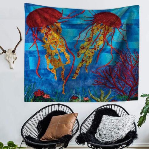 Ocean Octopus Tapestry Wall Hanging for Bedroom Living Room Dorm Wall Blankets