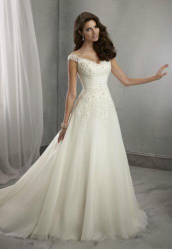 2019 White//ivory Wedding dress Bridal Gown Stock size 6-8-10-12-14-16