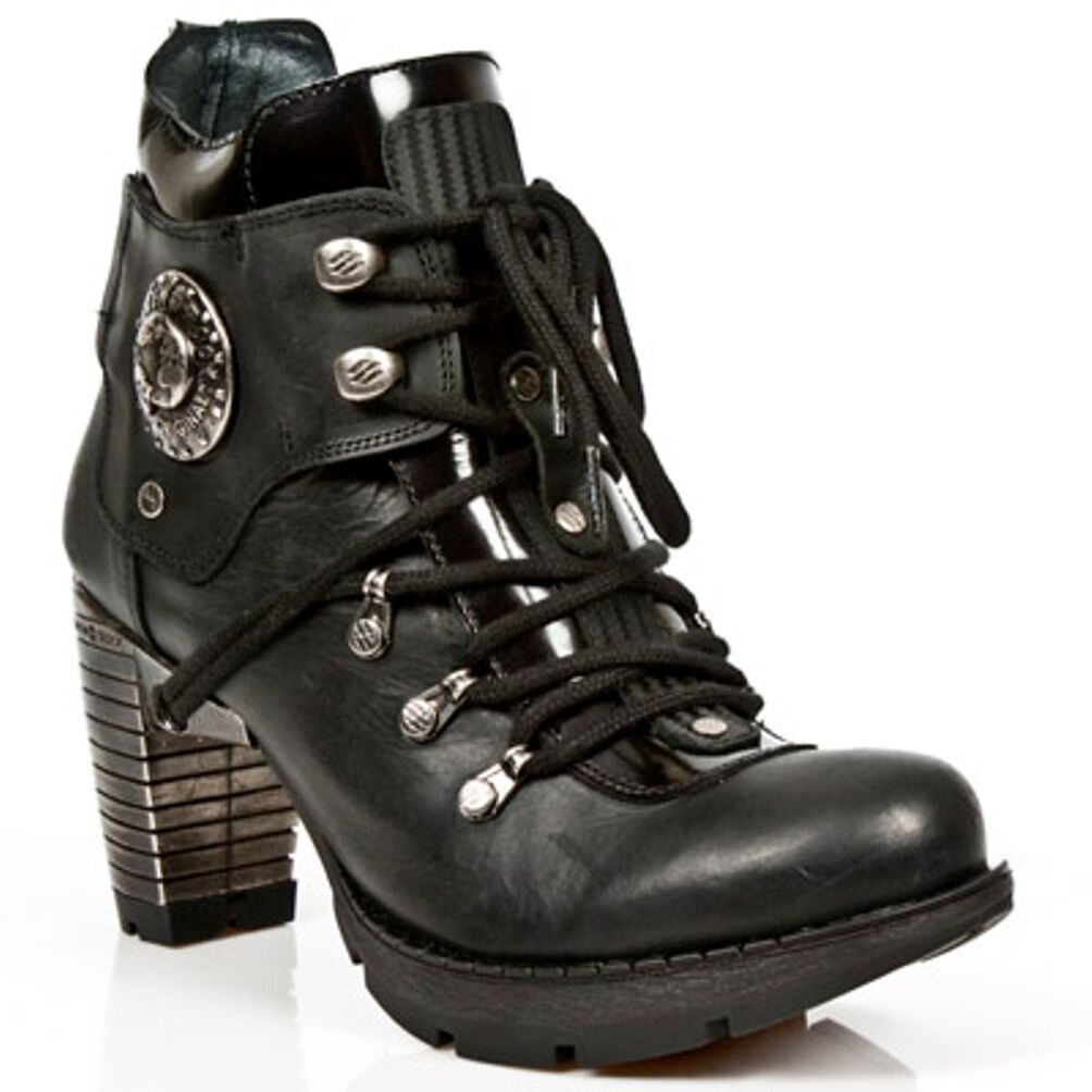 New Gothic Rock Boots Donna Punk Gothic New Stivali - Style TR010 S1 Nero 0fd681