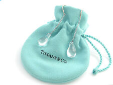 Tiffany & Co RARE Peretti Silver Rock Crystal Teardrop Dangle Earrings!