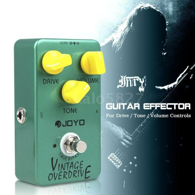 Joyo JF-01 Vintage Overdrive Guitar Effects Pedal True Bypass AU Stock Accessory