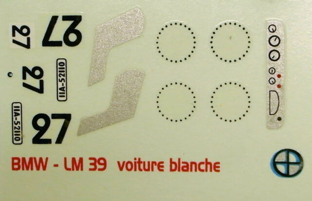 decals 1/43: BMW  Le Mans 1939 N°27