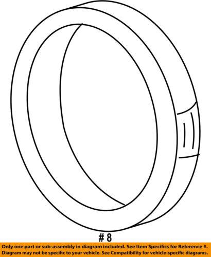 GM OEM Air Cleaner Intake-Rear Duct Seal 25180042
