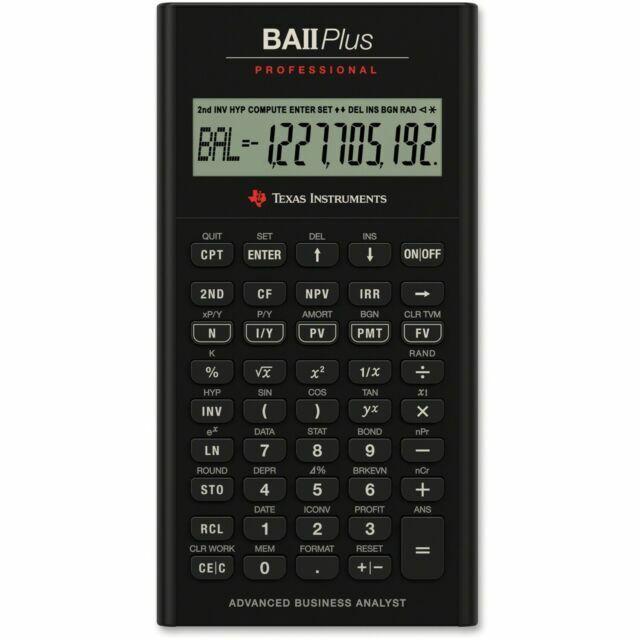 Texas Instruments BA II 2 Plus Financial Calculator NEW