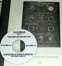 Cushman 317 Fmamssb Monitor Operator Amp Service Manual