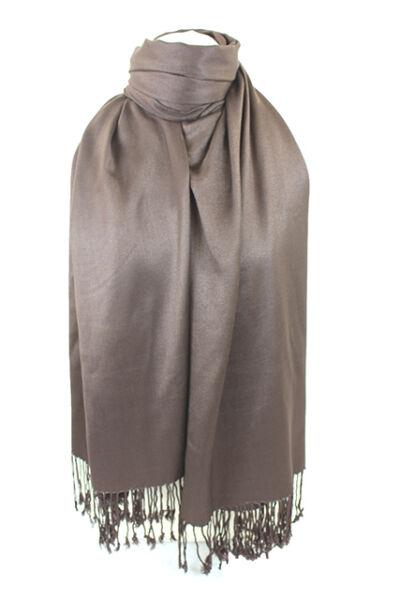 2019 úLtimo DiseñO Chocolate Brown Alta Calidad Pashmina Bufanda Chal Robó Wrap Hijab 100% Viscosa-ver Una Gran Variedad De Modelos