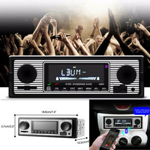 Bluetooth-HandFree-Car-Radio-MP3-Player-Stereo-1Din-FM-USB-AUX-Audio-Electronics