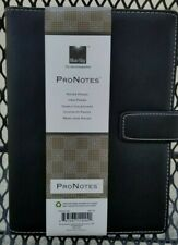 Bluesky Pro Notes Notebook Planner Black Faux Leather 8 12 X 5 New