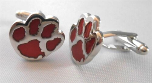 Details about  /RED DOG PRINT DELUXE SILVERTONE 1//2/' CUFFLINKS
