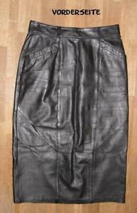 gt-gt-gt-schoener-knapp-wadenlanger-LEDERROCK-Rock-in-schwarz-in-Gr-40