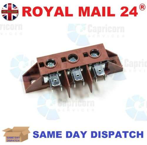 UNIVERSAL 3 POLE HIGH TEMP RED OVEN COOKER TERMINAL CONNECTOR BLOCK 40AMP