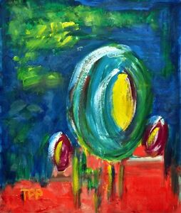 Lollipops Popping Up Fun Abstract Oil Painting on Paper Artist Europe 2000Now - <span itemprop=availableAtOrFrom>Wellington, United Kingdom</span> - Lollipops Popping Up Fun Abstract Oil Painting on Paper Artist Europe 2000Now - Wellington, United Kingdom