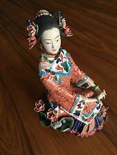 Geisha Asian Lady Rare Shiwan statue figurine Oriental Chinese Ceramic Porcelain