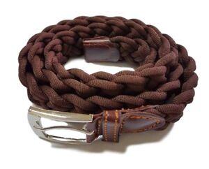 ds Cinta Cintura Uomo Intrecciata Marrone 2K-6040 Glamour Fashion Alla Moda hac