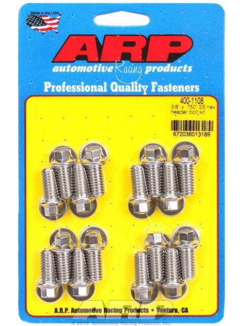 "ARP Exhaust Header Bolts Hex Head 5/16"" 3/8"" x 0.750"" UHL Qty16 (400-1108)"