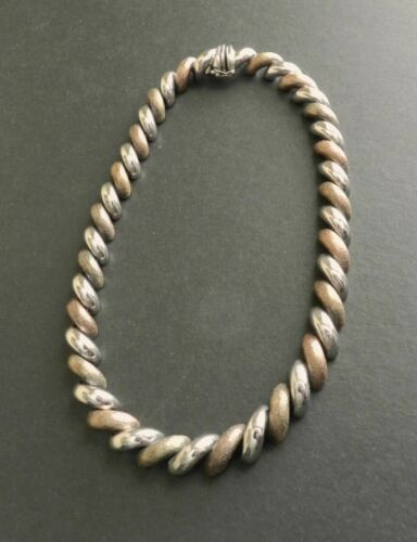 San Marco Gilt Sterling Silver Rhinestone Linked Bracelet Made In Italy