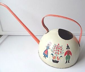 Vintage Ohio Art German Man and Woman Watering Can No.916-A173