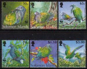 Charmant Îles Salomon Minr. 835/40 ** Mondial Protection De La Nature: Nikobarentaube