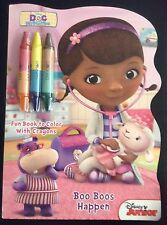 Disney Junior Doc McStuffins Fun Book With Crayons Coloring Book