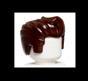 Hair Swept Back with Forelock 6086672 9837 new Lego Dark Brown Minifig