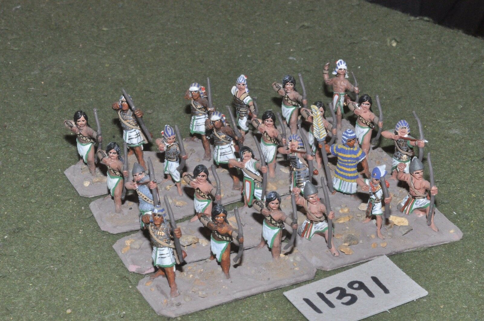 25mm biblical   egyptian - archers 24 figures - inf (11391)