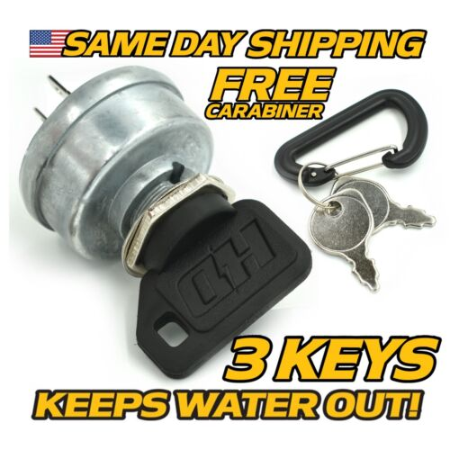 Dixon 4197 Ignition Switch w// UPGRADED KEY /& FREE Carabiner