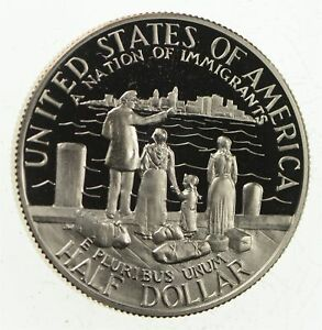 PROOF-1986-S-Ellis-Island-Immigrants-Liberty-US-Mint-HALF-DOLLAR-Commemorative