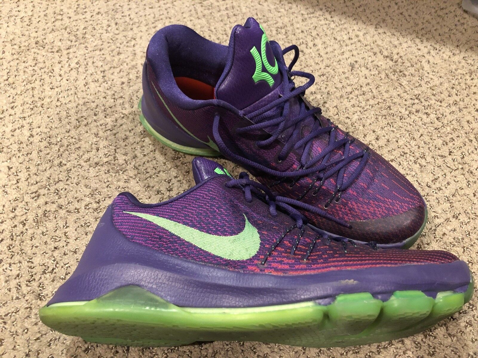 Nike KD 8 Size 12 Purple And Green Great Condition